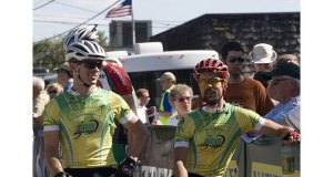 Jason and I getting to the start line early - Cannon Falls