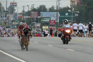 2008 US 100K Classic - Leading the breakaway