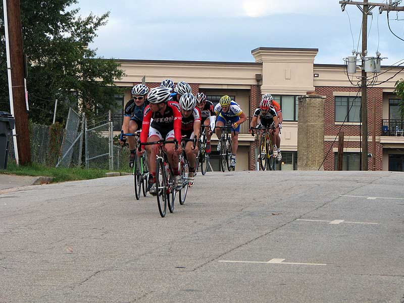I bridged up to the end of this late race break. We stayed away for a couple laps.