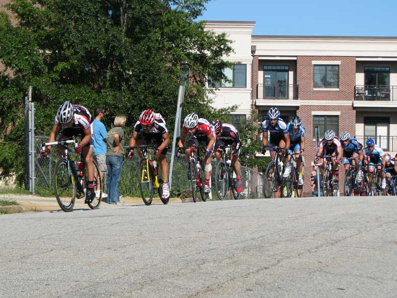 Here is the group coming over the crest of the steep hill right before the previous picture was taken.