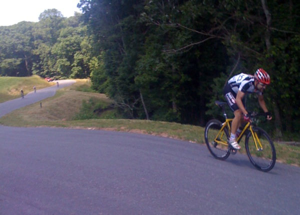 2009-05-31 - 200 meters to go in the Dahlonega Omnium Road Race