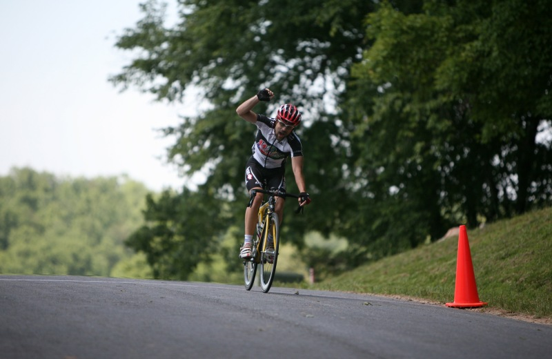 2009-05-31 - Winning the 2009 Dahlonega Omnium Road Race (Photo credit: Chase Lanier)