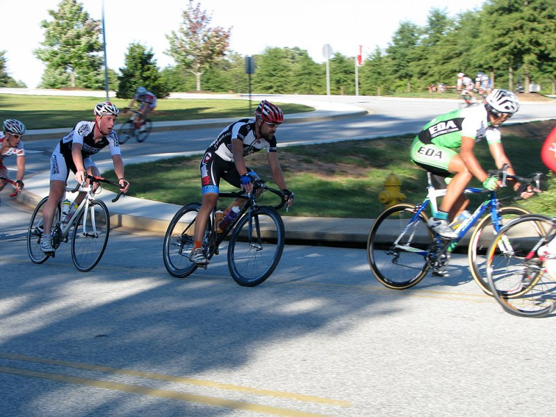 Day 1 - riding through the chicane