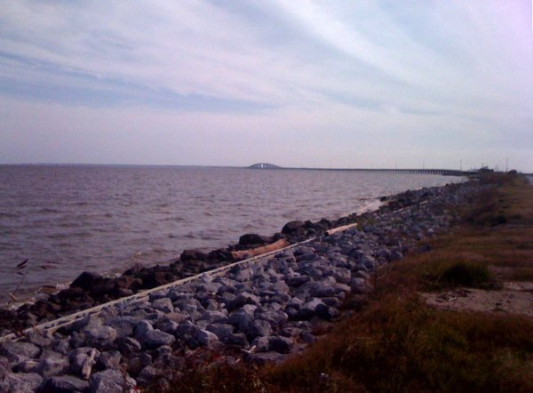 The view of the bridge to Dauphin Island as I approached it from the mainland