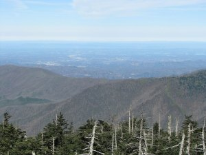 Looking north to Gatlinburg and Pigeon Forge