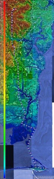 University of South Alabama to Dauphin Island