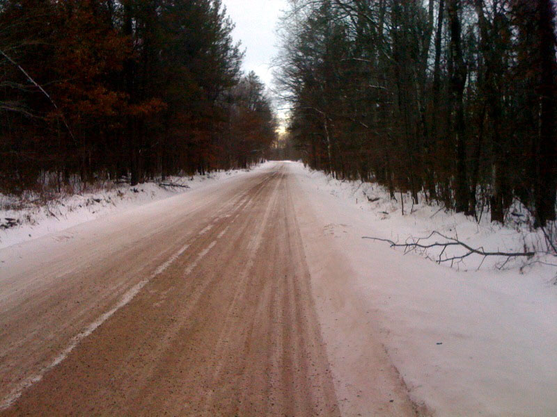 Short segment of the only dirt road on the loop