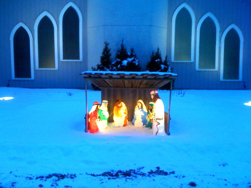 A nativity at the church where Kristine and I got married