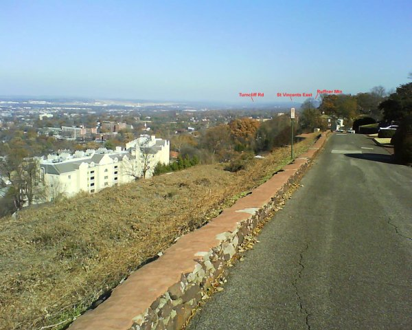 Annotated 1200s - Ruffner Mountain, St Vincents East, Turncliff Rd