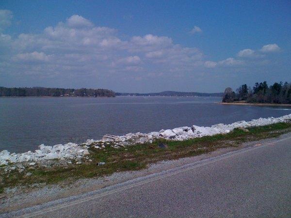 A busy day on Lake Logan Martin - look at all the sailboats!