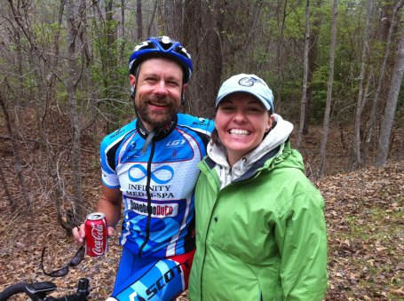 Me and my beautiful wife just after the finish.