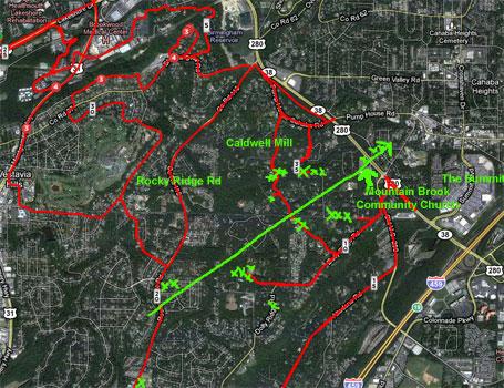 4/28 updated damage path satellite view