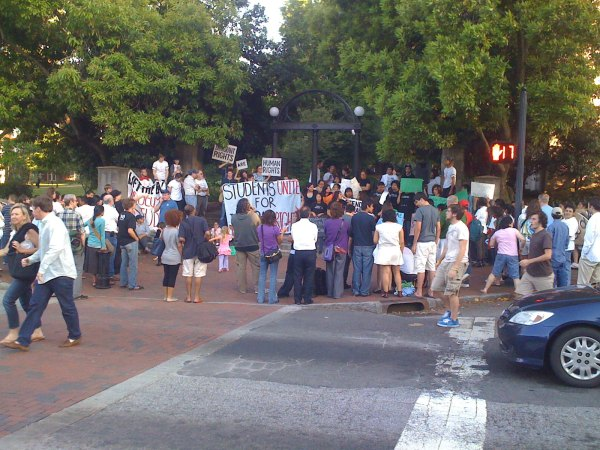 Immigration rights protest at the University of Georgia