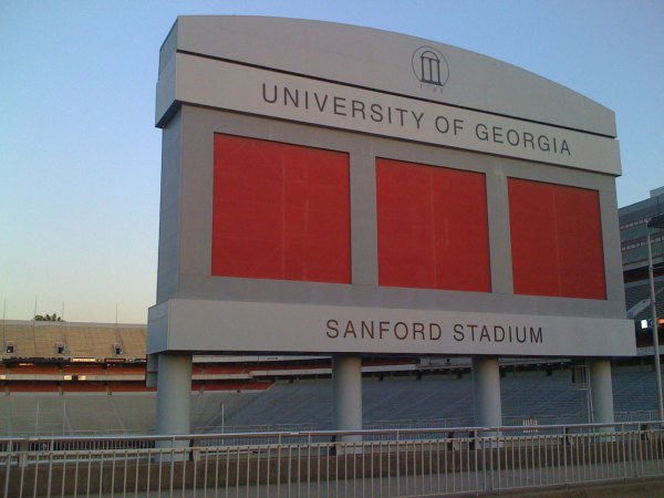 Sanford stadium at the University of Georgia