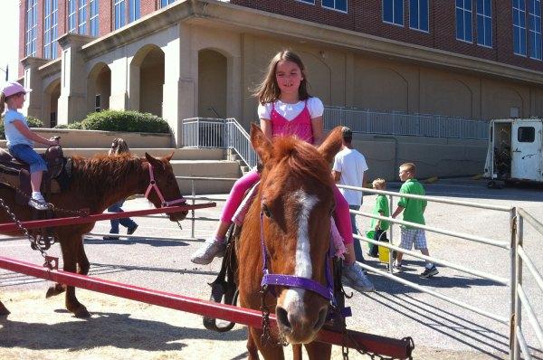 Analise enjoying her horse ride.