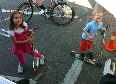 Analise and Josiah had a blast riding there scooters