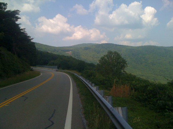 Here is the view halfway up the Burnt Mountain climb on GA-136.