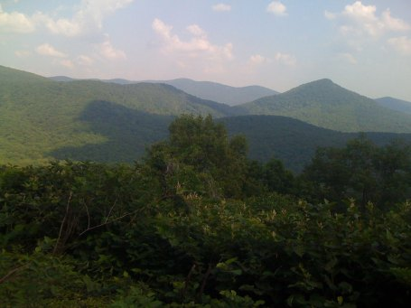Here is the view looking towards Sharptop Mountain ... look at the deciduous forest and imagine that in the fall.