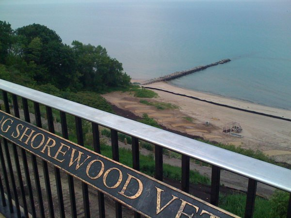 """Overlooking Lake Michigan, Shorewood's aptly named """"Atwater Park"""""""