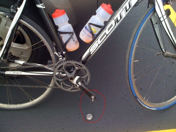 Broken speedplay pedal after the race