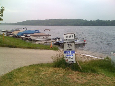 Radar controlled lake - in Wisconsin they take their boating safety quite seriously.