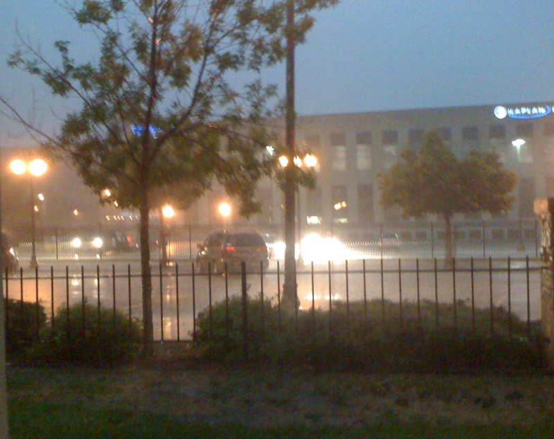 Thunderstorm immediately after our race finished.