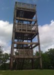 The Lapham Peak lookout tower (elev 1233)