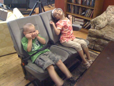 Josiah and Analise enjoyed pretending to drive on this cool two-seater couch.