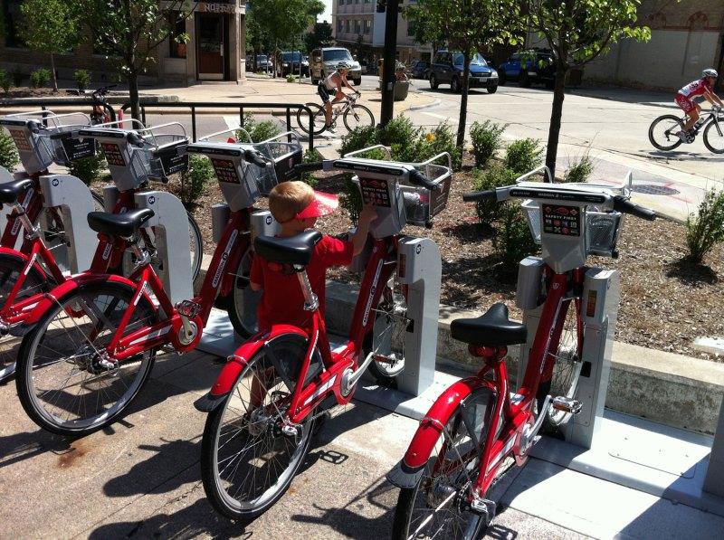 Rent-a-bike stand