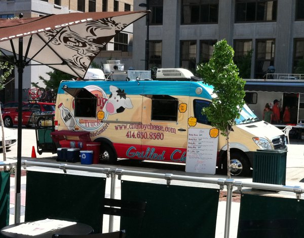 The chubby cheese specialty grilled cheese truck