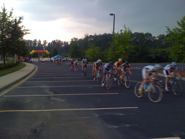 Justin Bynum near the front about to be in the race-winning break.