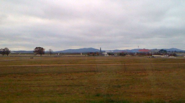 View of the NASCAR Talledega Speedway from I-20. I started my ride in Munford about 10 miles away.