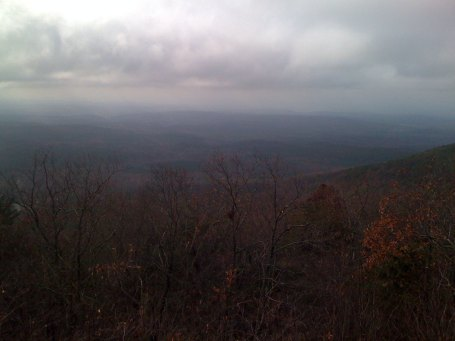 Looking west towards Birmingham and all the numerous (but much smaller) ridges between Cheaha and there.