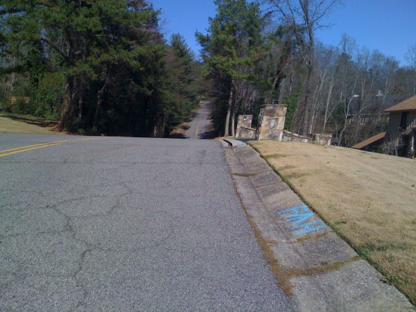 The roller coaster climb up different portion of N Woodridge which turns into Spring Valley Rd