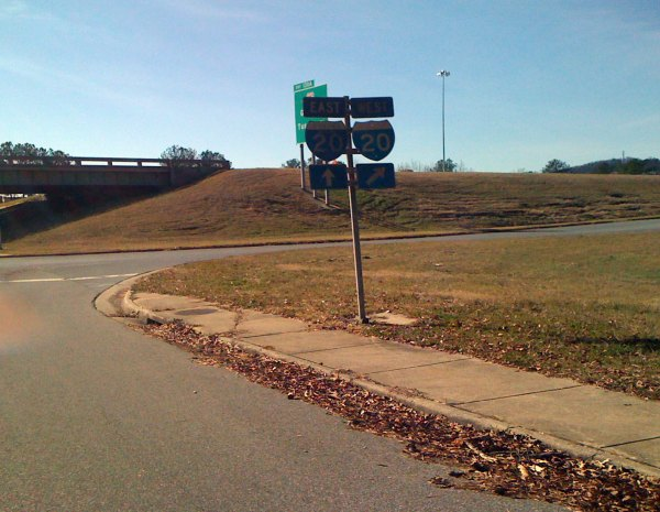 Yes, I did make the turn onto the I-20 West on ramp, but it was only to take the cutover to Oporto Madrid Blvd which splits off the on ramp before reaching the interstate