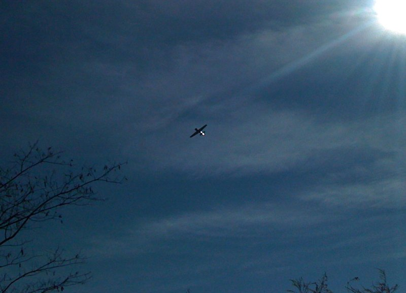 This plane had taken off from the airport and was flying right towards me before starting to turn.