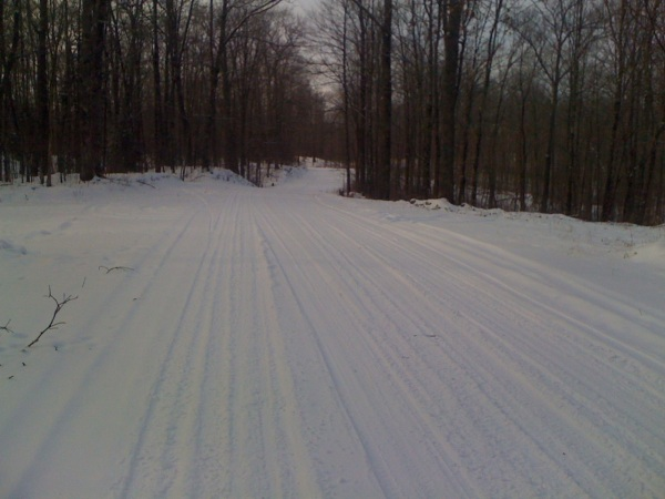 Beautiful winter scene - Imagine 9 miles of riding on a snowy road through pristine winter wilderness. That was the first 9 miles of my ride!