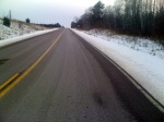 Co Rd C long climb to Meteor Hill - This is the initial climb on Co Rd C towards Meteor Hill. The climb gains over 600' spread out over 5 miles with lots of ups and downs along the way.