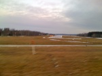 Shell Lake airport - the runway goes right up to the lake