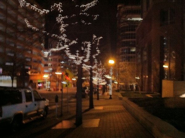 Downtown Nashville after the concert