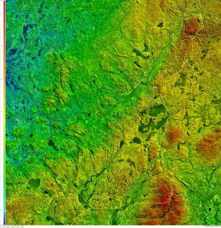 Telemark to Shell Lake via Meteor Hill - click on the map for a super hi-res version (13MB)