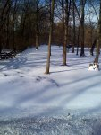Deep snow in one of the forests just south of La Porte before hitting the really flat farmlands