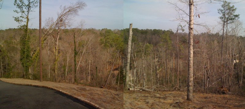 April 27th Cahaba Heights tornado damage viewed today 9 months later