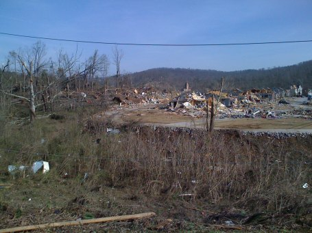 Another view of the damage in Marchester neighborhood