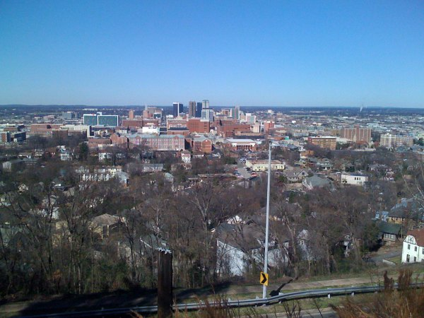 View of downtown Birmingham from Warwick Dr