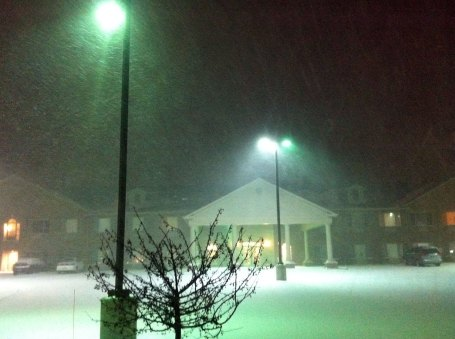 Lake effect snowstorm in La Porte, IN