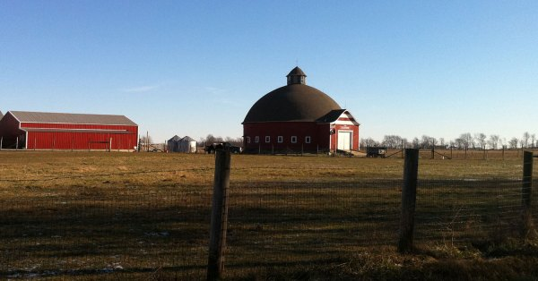 Here is a round barn that we passed on our rural drive south towards the interstate.