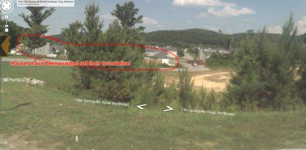Streetview of neighborhood before tornado