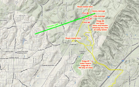 Tornado path map annotated