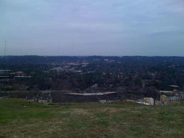 View of home, the vulcan, and just barely visible part of downtown Birmingham